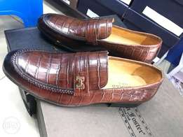 New hermes Brown leather shoe