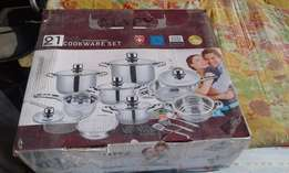 Brand New Mafy 21 Pc Stainless Steel Cookware Set from Switzerland