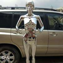 Silver and gold chromed Mannequines