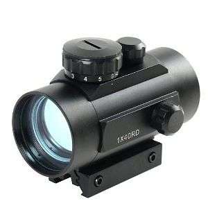 Tactical 1x40 Red Green Dot Sight Scope w/10mm - 20mm Weaver Mounts Sunridge Park - image 3