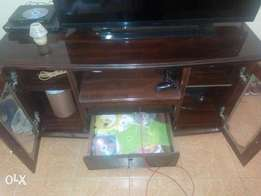 QUICK SALE - Hardwood TV stand