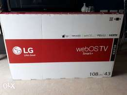 White LG 43inches with free local channels