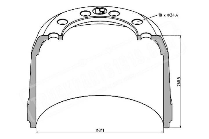 Drum new arvinmeritor brake  for truck - 2019
