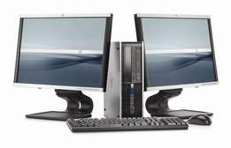 "Core 2 duo hp comuter complete se with 19"" screen"