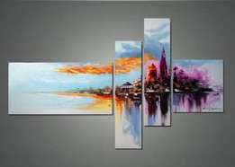 Abstract design paintings