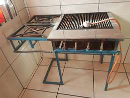 4 Burner griller with 2 plate stove