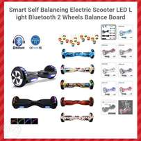 Smart Self Balance Wheel Bluetooth Led Light 2 wheel Balance Board