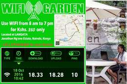 wifi garden for 250 from 8pm to 7pm