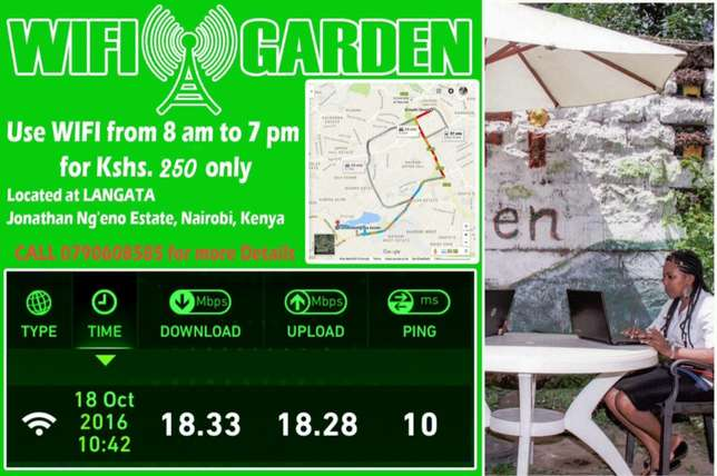 wifi garden for 250 from 8pm to 7pm Mugumoini - image 1