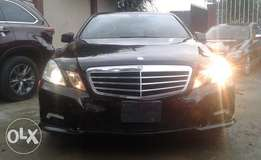 Extra clean foreign used Black Mercedes Benz E- Class 2010 model