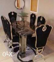 High Quality Marble Dining Table With Six Chairs (7221)