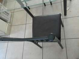 4 chair .glass table
