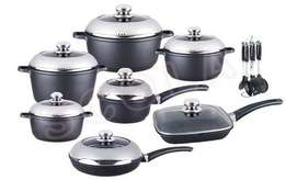 Italy Dessini Regina 21Pc Cookware Set - NON STICK