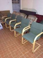 very nice quality strong spring wood rocking arm chairs at 11k each