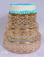 Dome Cake Stand- Gold