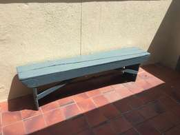 Blue Outdoor Bench