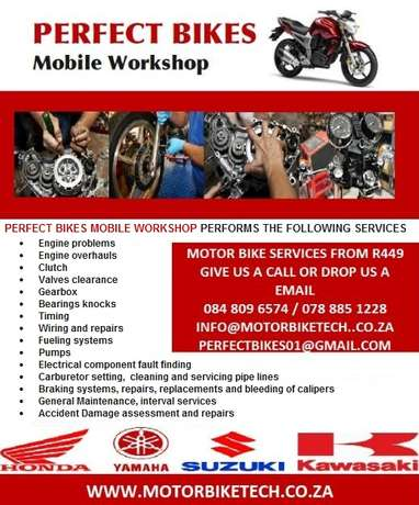 Motorbikes and scooters mobile Mechanics Midrand - image 2
