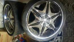 New 24 inch rims with tyres for sale