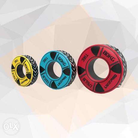 gym tire weight 40 to 80 kg