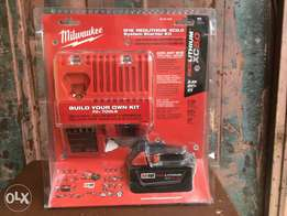 Charger and battery park for Milwaukee power tools