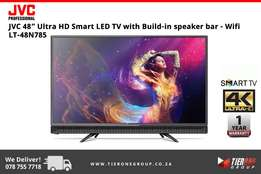 "JVC 48"" Ultra HD Smart LED TV with Build-in speaker bar"
