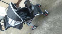 Pram and baby cot for sale,graco make