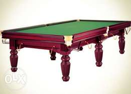 9 feet snooker table( marble slate play field)
