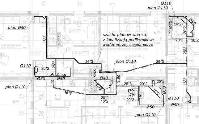 Modish Projekty instalacji sanitarnych wod, kan, gaz, c.o. Projektant VL24