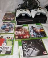 Xbox 360/ 120gb hdd with 2 controllers and 6 games
