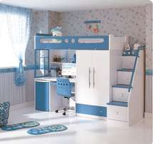 Mokki Combination Bunk Bed - Blue