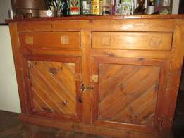 Rustic pine cabinet ... for TV ?