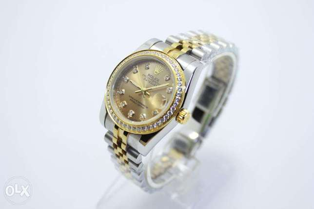 Datejust Gold Dial For women ساعة حريمي