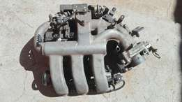 Mazda v6 inlet manifold with throttle, injectors all the sensors