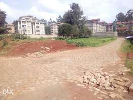 A 1/4 and an 1/8 acre plot at Uthiru Touching the Tarmac.