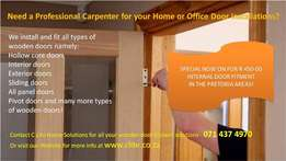 Carpentry Services and Wooden Door Installations and Fitters Pretoria