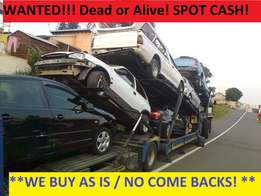 Buyers of accident damaged Non runners and runners anywhere in Gauteng