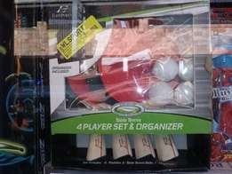 4 Player table tennis set and organizer