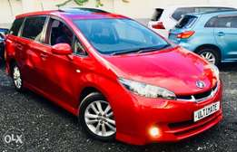 toyota wish new shape kcn loaded edition with sunroof at 1,350,000/=