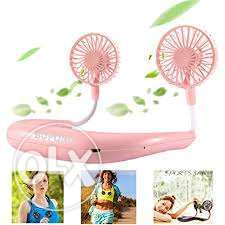 Portable dual neck fan for home, hangouts - sports, hiking and kitchen