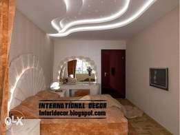 Gypsum ceilings,wall units,painting,tiles all finishings