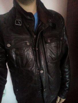 Кожаная мужская куртка   Шкіряна куртка CORTEFIEL Бережани - зображення 1 020d74412c90c