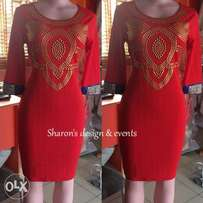 Red dress (sizes 10-12)