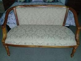 Beautiful 2 seater either rosewood or cherrywood