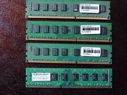 2 X 4GB DDR3-1333 ram + 2 x 1gb DDR2 ram all in good working condition