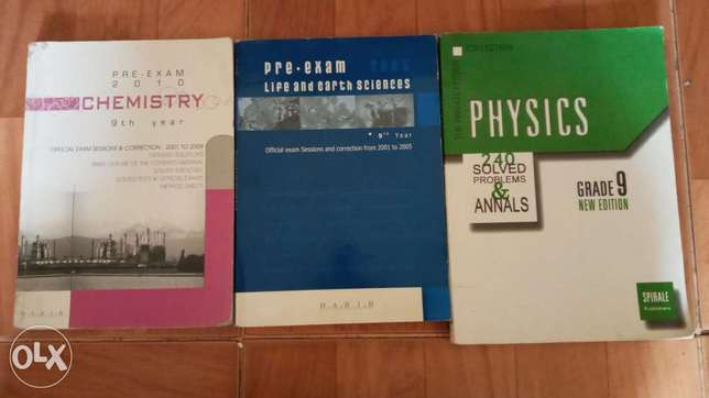 Physics, biology and chemistry for grade 9