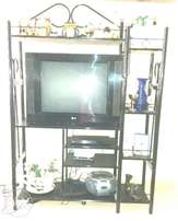 T.v. cabinet and shelf unit