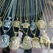 Pure solid 18karat chain nd pendant gold