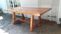 10 Seater dining room table, Top - 65mm, 2.5m x 1m, Benches, 12, 8, 6.