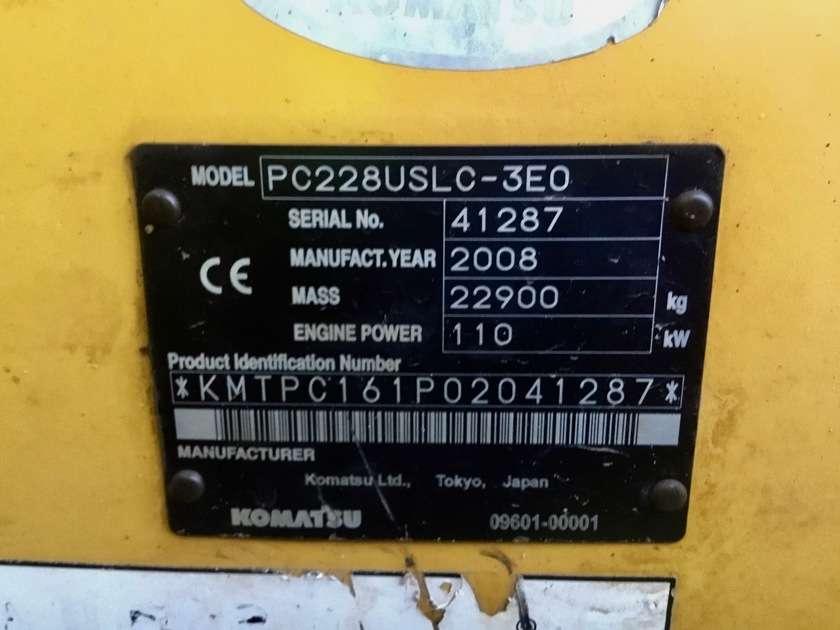 Komatsu PC228USLC-3E0 - 2008 - image 5