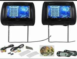 "7"" car multimedia headrest monitors with cd players"
